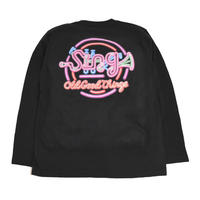 OldGoodThings L/S T-SHIRTS (Sing-Neon) BLACK