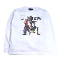 OILWORKS L/S T-SHIRTS (U_KNOW-2019) WHITE