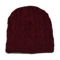 NEW YORK HAT (CABLE BEANIE) BURGUNDY