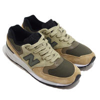 NEW BALANCE (M999 MADE IN USA) BEIGE OLIVE/BLACK