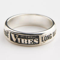 VIBES SILVER RING SLIM