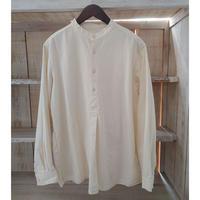 ブルガリアタイプグランパシャツ  オフホワイト