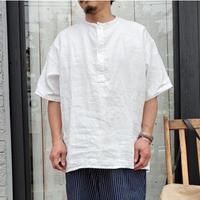 スリーピンクリネンシャツ  ホワイト