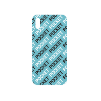 POCKET iPhone case light blue(ステッカー付)