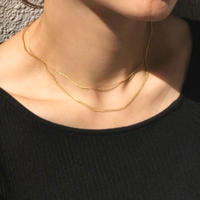 【ラスト1】silver925  K18GP Double strand Snake Chain Necklace〈StyleNo.010904-70〉