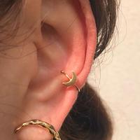 silver925 K18GP Lil Moon Ear cuff /1P〈StyleNo.020203-86〉
