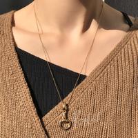 silver925 K18GP Burgundy Necklace /50cm
