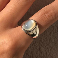 silver925 ring  -  Amulet Moon Stone Ring -〈StyleNo.011016-6〉