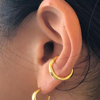 silver925 K18GP -Medium Size C Earcuff-〈StyleNo.010904-47〉gold/1peace