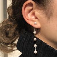silver925 Pearl chain Drop pierce <Style No.010904-97>
