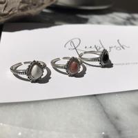 silver925 Boho Stone Ring/size:M<Style No.010904-6>