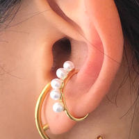silver925 K18GP Dot Linepearl Earcuff〈StyleNo.010904-79〉gold/1peace