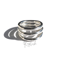silver925 Tripartite Ring/size:#11,13,15