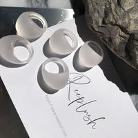 Acryl Matt Processing ring <Style No.010904-98>  clear/white