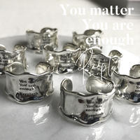 silver925 Message Ring - Ann - /size:M,L