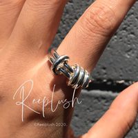【unisex】silver925 Wrap Around 2line Ring/size:M,L〈Style.No.020611-22〉