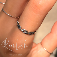 silver925 Thin chain Ring /size:S,M,L〈Style.No.020605-52〉