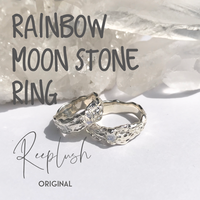 【 Reeplush Original】silver925  Rainbow Moon Stone Ring