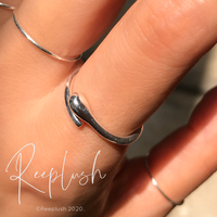 silver925 Thin Swirl Ring/size:S,M,L〈Style.No.020605-51〉