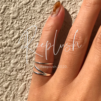 silver925 Pinky ring lilcrossing/size:S〈StyleNo.020605-21-re〉