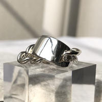 silver925 Chain plate Ring/size:M,L〈StyleNo.020203-68〉