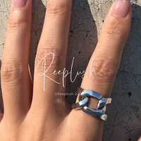 silver925 Big Chain Ring/size:M,L〈Style.No.020710-21〉