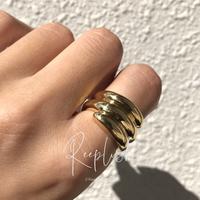 【ラスト1点/14号】silver925 K18GP Mason Ring