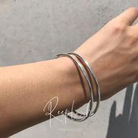 silver925 Two Lines Cuff Bangle〈StyleNo.020813-35〉