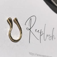 silver925 K18GP  - Distortion Earcuff -〈StyleNo.010904-80〉gold/1peace