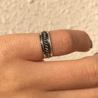 silver925 Rope Pinky Ring/size:S〈StyleNo.020203-51〉