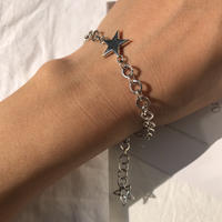 【Star Edition】silver925 Star Bracelet 〈StyleNo.011202-8〉