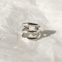 silver925 Thin Triplets Ear Cuff