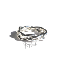 silver925 Intertwined Ring/size:S,M,L