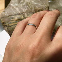 silver925 pinkyring -MiniWave-〈StyleNo.010904-62-re〉size:#5/#9/#11