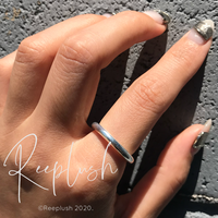 【 unisex】silver925 3mm Bold Ring/size:S,M,L〈Style.No.020605-17〉