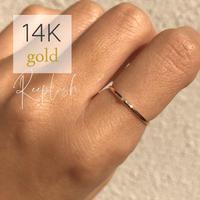 14K GOLD RING  - Charlott  - <Style No. gold01>