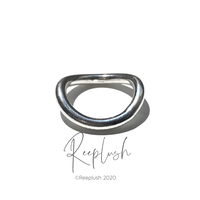 silver925 Curved Ring/size:#9-15