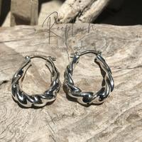 silver925 Twist Hoop Pierce<Style No.020611-14>