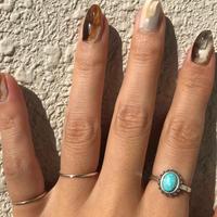 ラスト1点/silver925 Turquoise 3 Ring Set/size:M〈StyleNo.011016-27-setrings7〉
