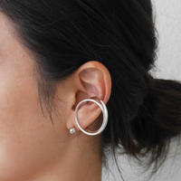 alloy/ iron Round earcuff&Ball pierce Set〈StyleNo.010724-9〉
