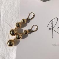 silver925 K18GP Triple ball drop Pierce<Style No.020203-30>