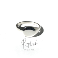 【10号ラスト1点】silver925 Light Signet Ring /size:#10