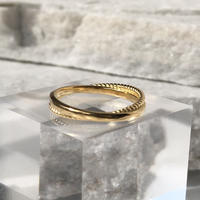 silver925 K18GP Thin Cross Ring/size:M<Style No.020203-16>