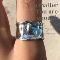 silver925 Message Ring - Ann - /size:M,L