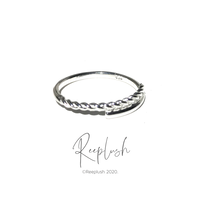 silver925  Spiral Ring /size:#8,14