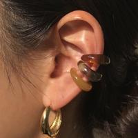 acrylic  Small size earcuff 〈StyleNo.011016-40〉yellow/brown/khaki