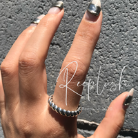 【 unisex】silver925 Rope Open Ring/size:Free(L)〈Style.No.020605-14〉