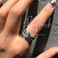 【unisex】silver925 Belt Ring/size:M,L〈Style.No.020605-40〉