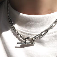 silver925 Asymmetry Chain Necklace 41cm〈StyleNo.020402-18〉
