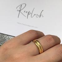 【ラスト1】silver925 K18GP Wisdom Ring/size:#12〈StyleNo.010904-15-re〉